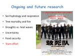 ongoing and future research5