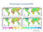trend maps in annual pdsi