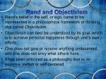 rand and objectivism