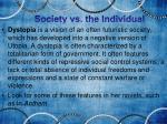 society vs the individual