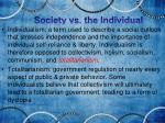 society vs the individual1