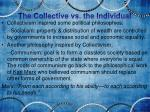 the collective vs the individual1