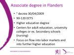 associate degree in flanders