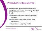 procedure 5 step scheme1