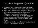 harrison bergeron questions