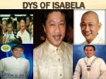 dys of isabela