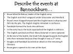 describe the events at bannockburn