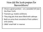 how did the scots prepare for bannockburn