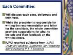 each committee