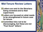 mid tenure review letters