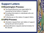 support letters