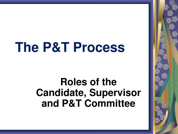 the p t process n.