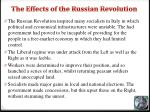 the effects of the russian revolution