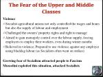the fear of the upper and middle classes1