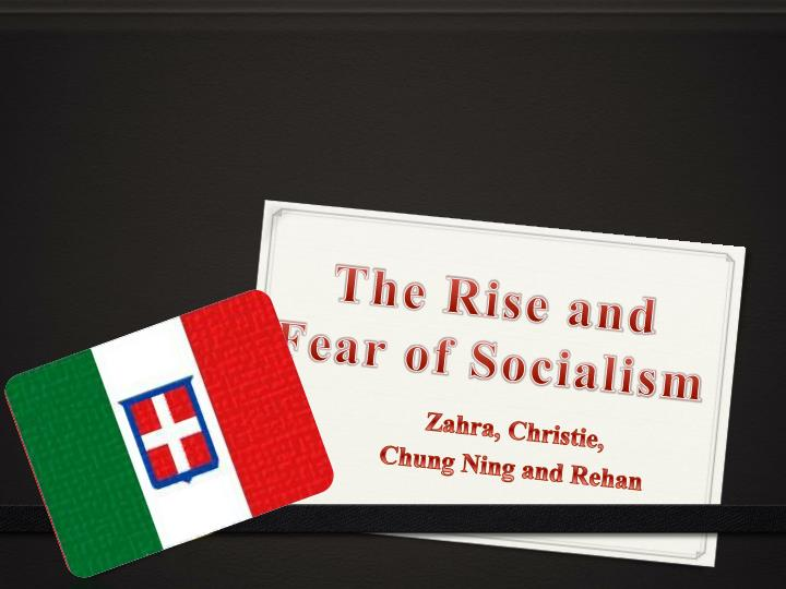 the rise and fear of socialism n.