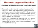 those who supported socialism