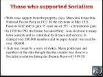 those who supported socialism1