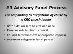 3 advisory panel process