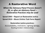 a restorative word