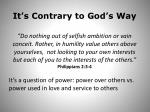 it s contrary to god s way