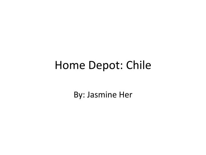 home depot chile n.