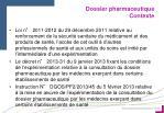 dossier pharmaceutique contexte1