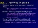 but their web ir system