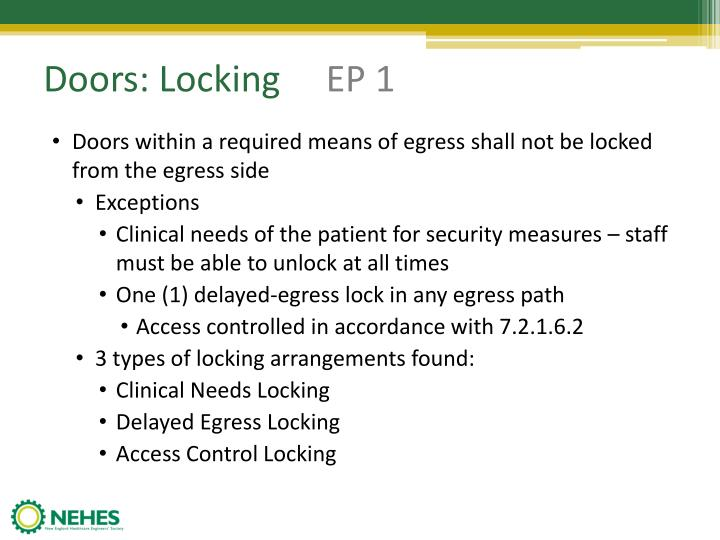 Doors: Locking