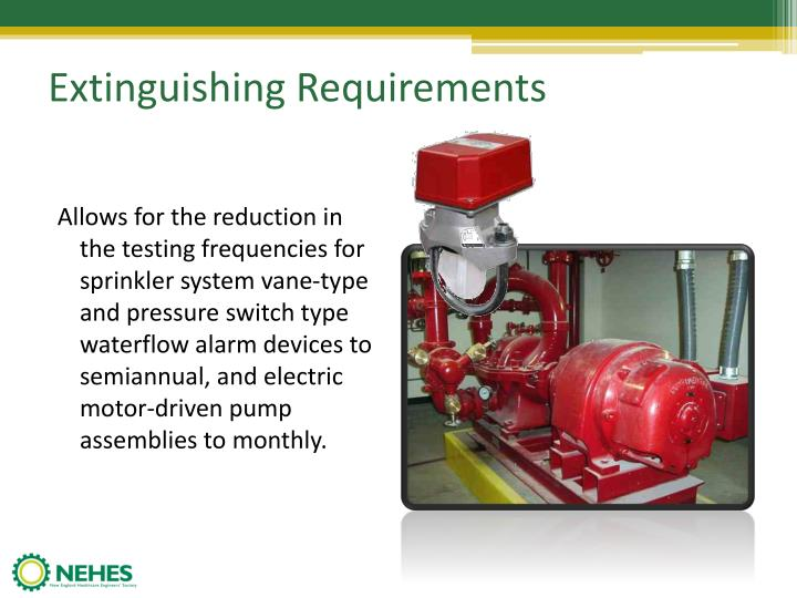 Extinguishing Requirements