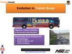 evolution in transit buses
