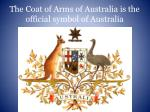 the coat of arms of australia is the official symbol of australia