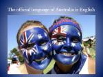 the official language of australia is english