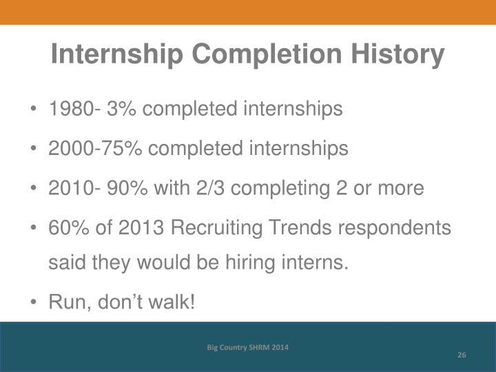 Internship Completion History