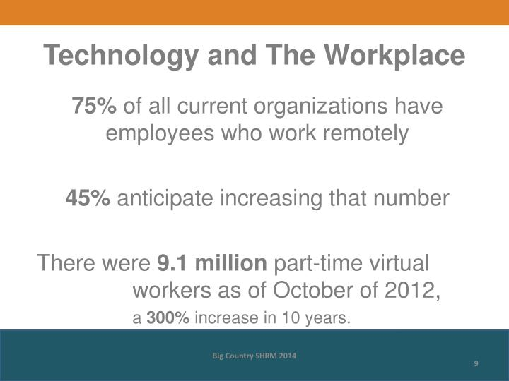 Technology and The Workplace