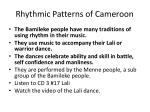 rhythmic patterns of cameroon