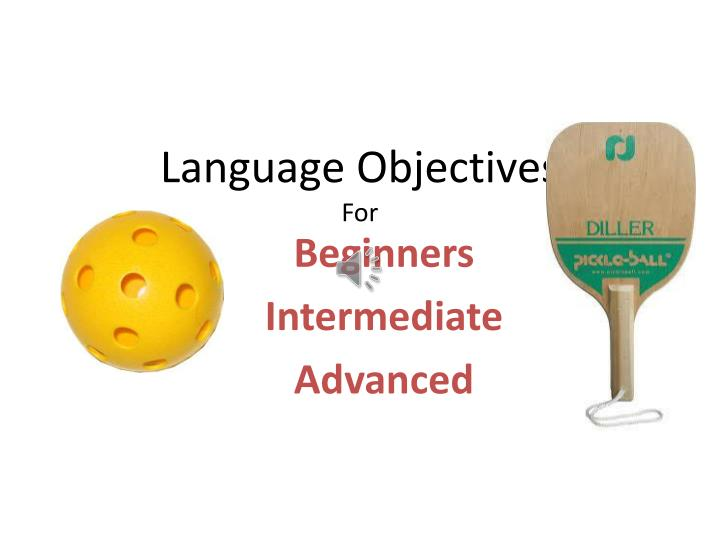 language objectives for n.