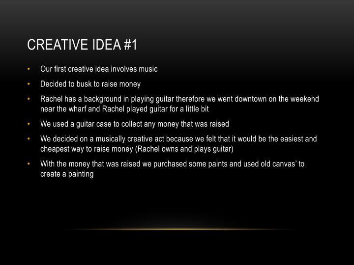 Creative idea 1