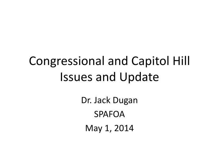 congressional and capitol hill issues and u pdate n.
