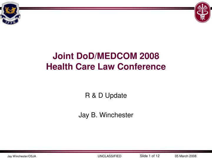 joint dod medcom 2008 health care law conference n.