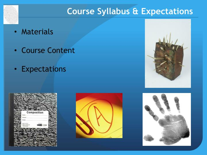 course syllabus expectations n.