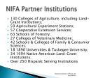 nifa partner institutions