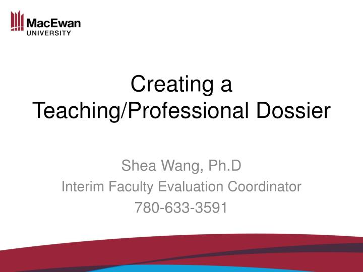 creating a teaching professional dossier n.