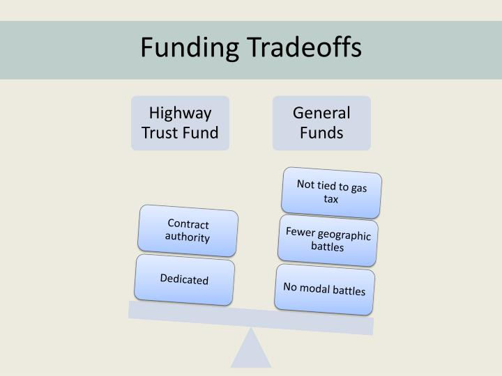 Funding Tradeoffs