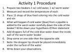 activity 1 procedure