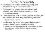 ocean s renewability