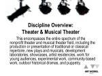 discipline overview theater musical theater1