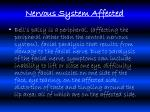 nervous system affected