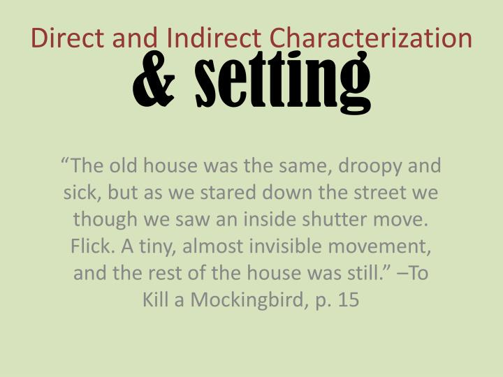 direct and indirect characterization n.