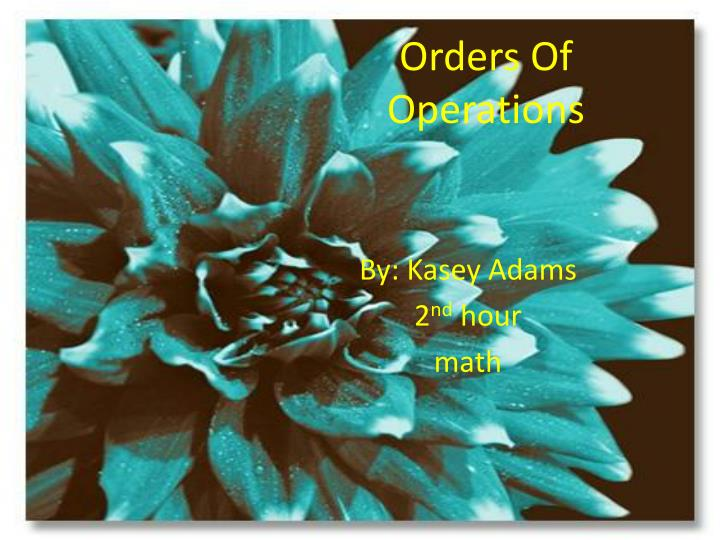 orders of operations n.