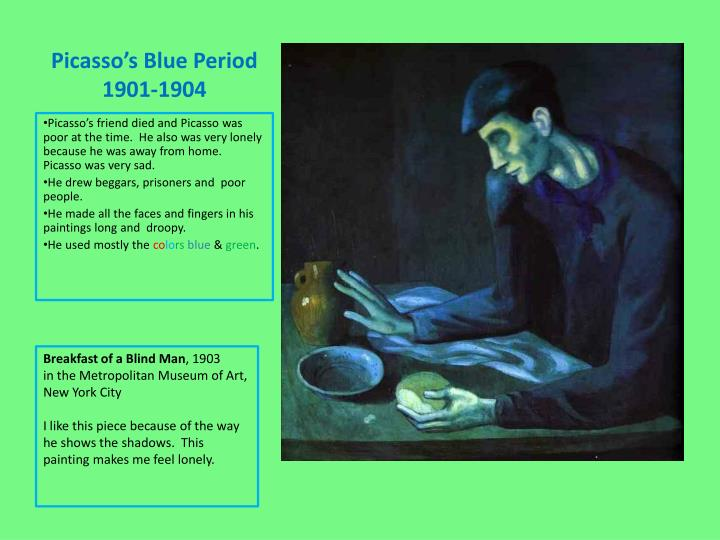 Picasso s blue period 1901 1904